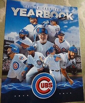 2016 Chicago Cubs Yearbook Maddon Kris Bryant Rizzo Lester Arrieta Wood Wrigley