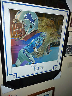 Detroit Lions MINT New in Package 1970's RARE Poster SUH STAFFORD MEGATRON WOW!!