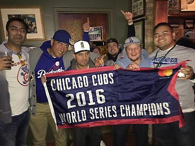 2017 CHICAGO CUBS SGA April 12 REPLICA CHAMPIONSHIP BANNER BRYANT RIZZO WRIGLEY