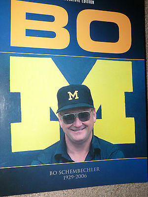 "Michigan Wolverines BO SCHEMBECHLER ""BO"" 1929 - 2006 Commemorative Book U of M"