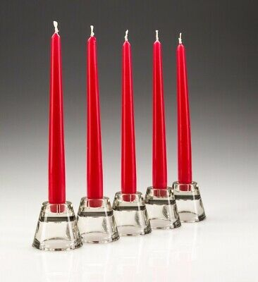 Tapered Red 10inch Candles - PACK OF 50 - RESTAURANT