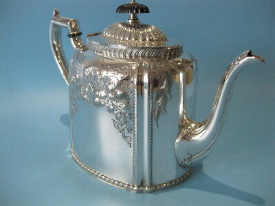 Very Beautiful Antique Large Silver Plated Ornate Repousse Victorian Teapot