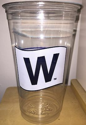 2016 FLY THE W FLAG 24 oz BEER CUP CUBS NLCS NATIONAL LEAGUE CHAMPS WRIGLEY