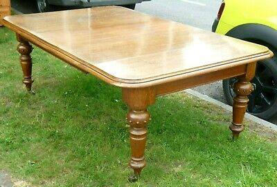 Arts and Crafts Oak 10 seater extending Dining Table Superb original Antique old