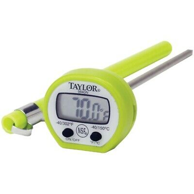 """Taylor 9840 4"""" LCD Display Digital Instant Read Pocket Thermometer"""