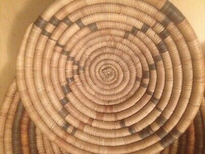 Anthropology ethnography, west African baskets, ghana, mid century, retro x 3