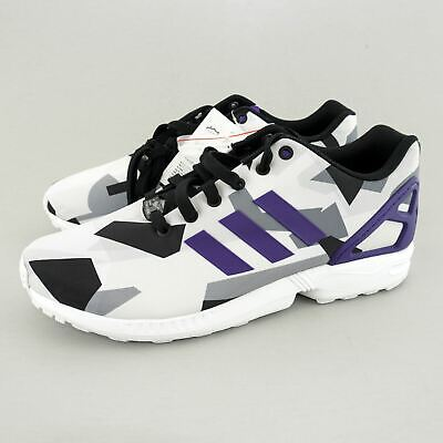 outlet store 3bfae 6c605 ADIDAS ORIGINALS MENS' (sz 10) ZX Flux Torsion Shoe (B34517)  White/Purple/Black