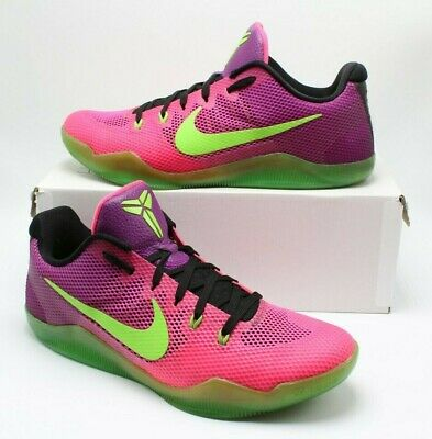 new style b0664 c5630 RARE NIKE KOBE XI 11 Mambacurial Low Pink Green Purple 836183-635 SZ 10 Kobe