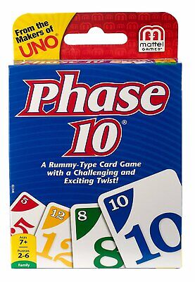 MATTEL - Phase 10 Card The Wickedly Fun Rummy Game W4729 - 1 Game