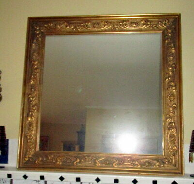 Antique baroque mirror - wood  frame  made in Germany