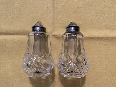 Vintage Waterford Crystal Lismore Salt And Pepper Shaker Set