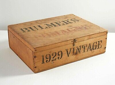 Extremely Rare Antique Primitive Wooden Box Hinged Hard Cider UK Bulmer's Ad LG