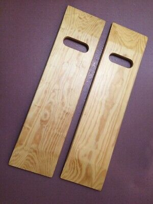 Qty 2 Wooden Sliding/Transfer Boards For Chair/Wheelchair Transfers