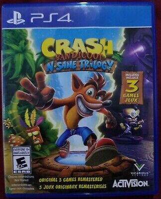 Crash Bandicoot N Sane Trilogy PS4 Game include 3 Games - Never Played