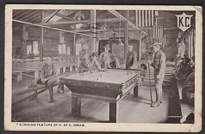 Ww1 - Knights Of Columbus, Recreation For The Soldiers, Camp Upton. 1918