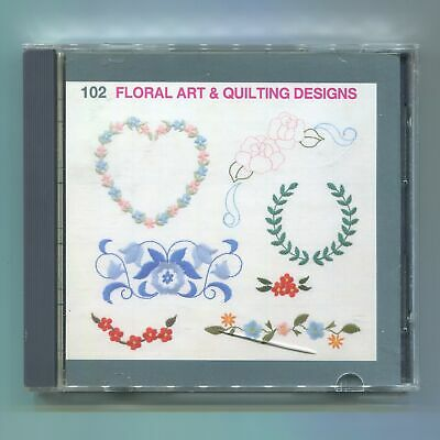Janome Elna Kenmore Embroidery Machine Memory Card Floral Art and Quilting 102