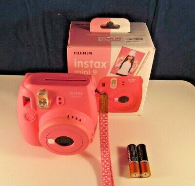 FUJIFILM INSTAX Mini 9 Instant Film Camera FLAMINGO PINK , GOOD TESTED