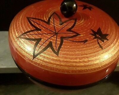 Japanese Black Lacquered Lidded Rice Bowl