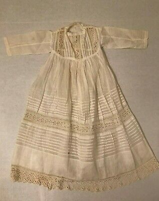 Vintage Victorian baby dress, christening gown, lace , crochet