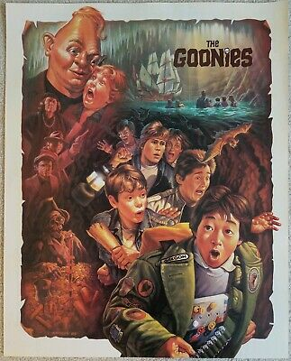 The Goonies Beatrice promo movie poster vintage 1985 - 2 sided 17.5 X 22 inch