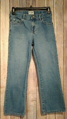 The Childrens Place Denim Jeans Boys Adjustable Waistband Bootcut Size 8