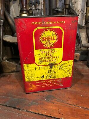 Shell Industrial & Agricultural Vintage Gal Tin