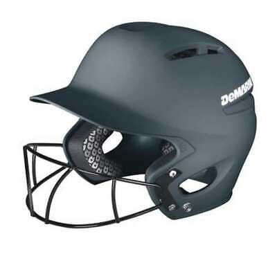 DeMarini Paradox Pro Fitted Adult Batting Helmet w Mask, L-Charcoal WTD5421CHL
