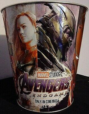 AMC Marvel Avengers Endgame Popcorn Tin Bucket Thanos Hulk Thor Iron Man...