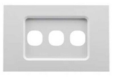 Clipsal SATURN ZEN GRID & PLATE ASSEMBLY 3-Gang For Switch/Push Button WHITE