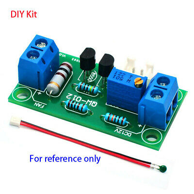 DC 12V Computer Power Amplifier Automatic Fan Temperature Control Board DIY Kits