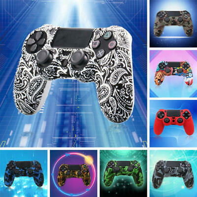 For PlayStation 4 PS4 Controller Camouflage Silicone Rubber Skin Grip Cover fgh