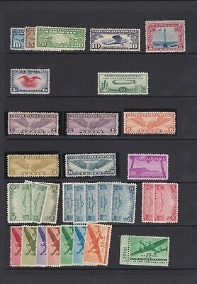 US Stamps Lot of Unused C18 Zeppelin Winged Globe Clipper Air Mail Stamps NH