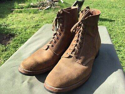 WW2 WWII roughout field boots shoes boondockers USN pilot corpsman not USMC navy
