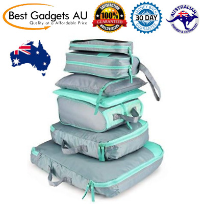 7Set Packing Cubes Travel Pouches Luggage Organiser Clothes Suitcase Storage NEW