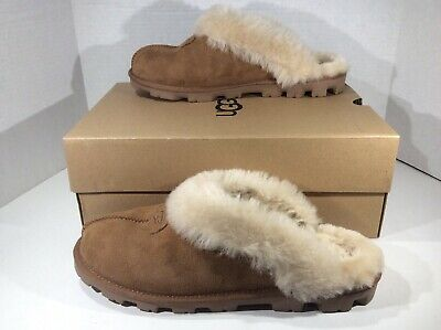c00725e3030 UGG AUSTRALIA WOMENS Coquette Brown Suede Clogs Slippers Shoes Sz 12 YC-1301