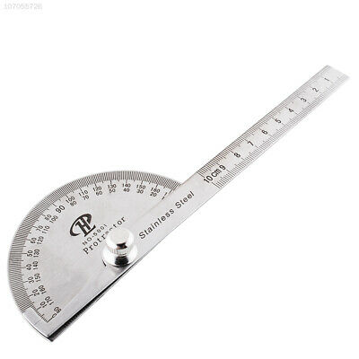 243E New Stainless Steel Rotary Protractor Angle Rule Measure Gauge Machinist To