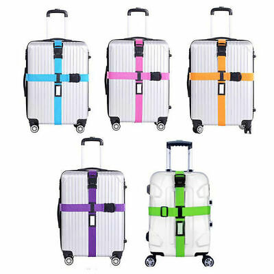 Adjustable Suitcase Luggage Straps Travel Baggage Belt Buckle Tie Down Lock 3195