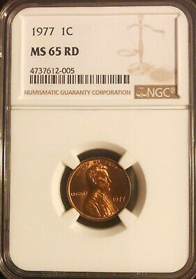 1977-P Lincoln Memorial Cent NGC MS 65 RD
