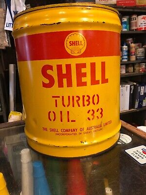 Shell Turbo Vintage 4 Gal Oil Can