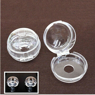 4Pcs Universal Kitchen Stove Knob Covers Protection Locks Clear For Child Safety