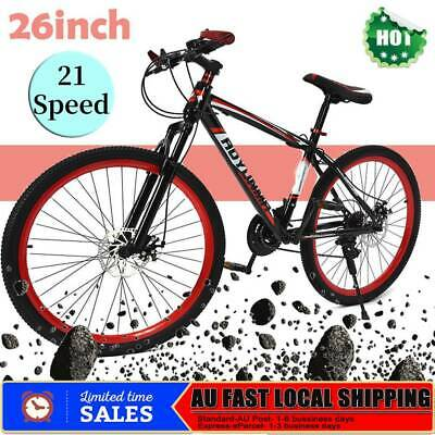 26inch 21 Speed Mountain Bike Bicycle Bikes Suspension Men Women Unisex City