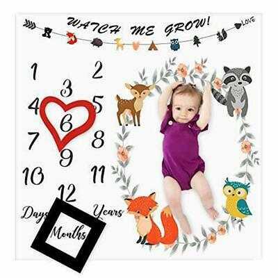 Hot Infants Newborn Baby Milestone Photography Blanket Mat Prop Monthly Growth