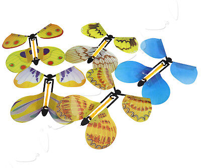 5 Piece Girls Boys Butterfly Paper Flying Fluttering Toy Birthday Gift Party Bag