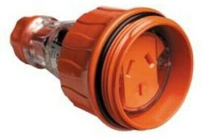 Clipsal CORD EXTENSION SOCKET 250V 3-Pins Flat ELECTRIC ORANGE- 10A Or 15A