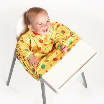 BIBaDO Catch it All, Cover All Full Cover Baby Led Weaning Bib - YELLOW