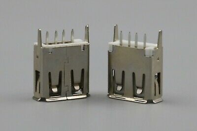 100Pcs 4Pin Type A Straight Female Socket PCB DIP Solder USB Connector