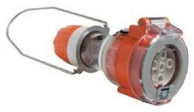Clipsal INDUSTRIAL PENDANT OUTLET 500V 5-Pins Round ELECTRIC ORANGE- 10A Or 20A