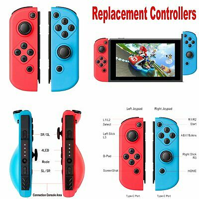 2pcs Replacement Joy-Con Controllers Gamepad Joypad for Nintendo Switch Console
