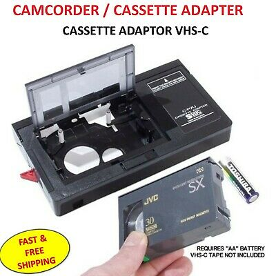 CAMCORDER CASSETTE ADAPTOR VHS-C Adapts the compact cassette to normal size