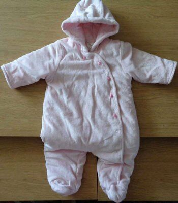 Next Girls Soft Velour Pramsuit All in One - 3-6 Months